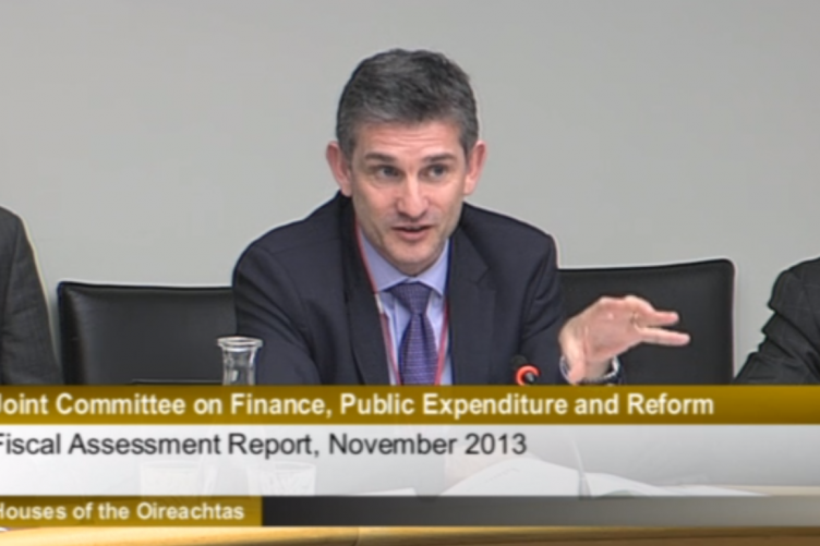 Council chairman Tony McHale speaking to TDs and Senators today