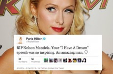 Paris Hilton is not happy about this Nelson Mandela tweet hoax