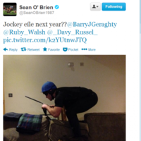 Is Sean O'Brien a jockey at heart? It's the sporting tweets of the week