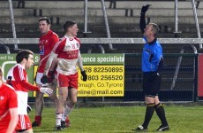Derry forward becomes first GAA player to be shown black card