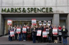 Marks & Spencer opens stores with seasonal staff despite pickets