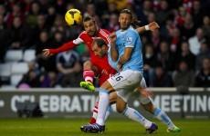 Daniel Osvaldo has scored a tasty lob against Man City
