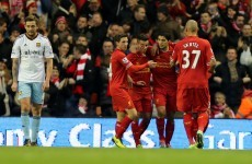 Suarez inspires Liverpool's victory over Hammers