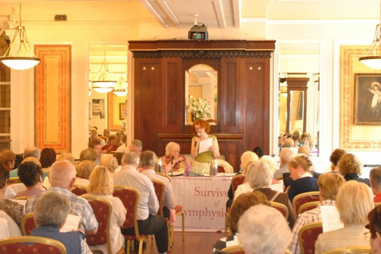 A meeting of members of Survivors of Symphysiotomy in Dublin yesterday.