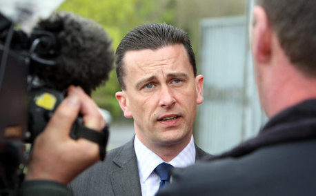 Det Chief Inspector Ian Harrison speaking outside Coleraine Coroners Court today.