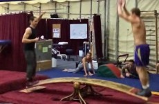 Two gymnasts played the most incredible seesaw you'll see