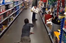 Teenager born without legs performs terrifying zombie prank