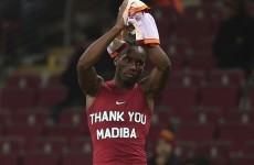 Galatasaray fans shame football authorities over Drogba's Mandela tribute