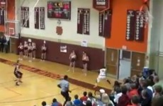 VIDEO: High school player scores amazing trick shot before running out the door