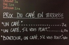 French coffee shop bases prices on customers' politeness