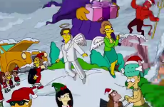 This year's Simpsons Christmas opening sequence features Mrs. Krabappel as an angel