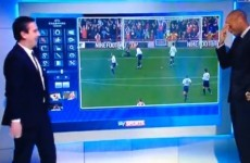 Gary Neville destroys Jamie Redknapp with Thierry Henry goal on giant iPad