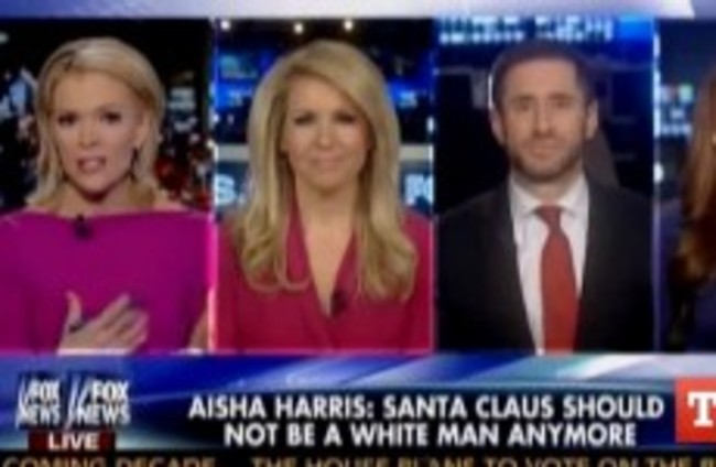 "Fox News presenter says it's a ""verifiable fact"" that Santa is white"