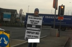 Unemployed man launches roadside placard campaign