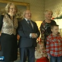 """Our citizens were failed"": President welcomes Priory Hall residents to Áras"