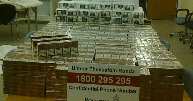 60,000 cigarettes seized by Customs officers in Cork