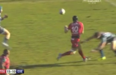 VIDEO: Was this a forward pass to set up a Toulon try?