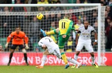 Gary Hooper's stunning volley lights up Carrow Road clash