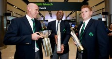 Snapshot: All smiles as Irish cricket team arrive home with some extra luggage