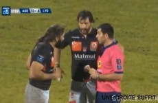 Sebastien Chabal in trouble after this right hook
