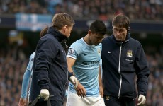 Calf injury to keep Aguero sidelined for a month