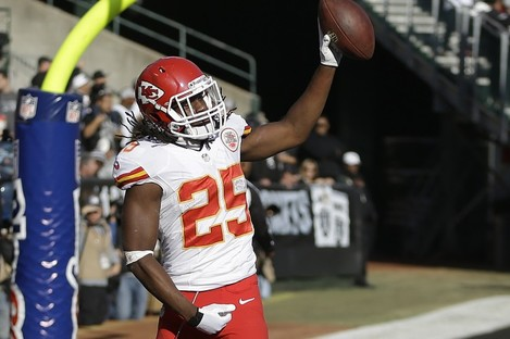 If you were playing Jamaal Charles in fantasy football last night, my commiserations.