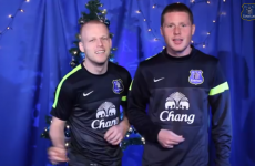 VIDEO: James McCarthy and Everton players sing 'Bring Me Sunshine'
