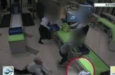 Airport security guard saves baby in diving catch