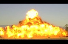Watch this guy build an explosive Christmas tree, then blow it up