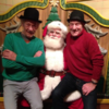 Patrick Stewart and Ian McKellen visited Santa together and sat on his knee