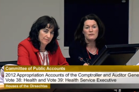 CEO of the Mater Hospital, Mary Day, left, at the PAC meeting.