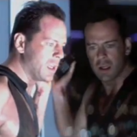 The Die Hard trailer, recut with bloopers