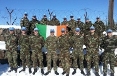 Defence Forces in Golan Heights send messages back home