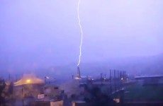 WATCH: Lightning strikes church in Clonmel