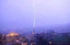 WATCH: Lightning strikes church in Clonmel