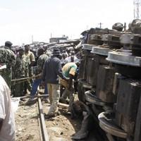 Unknown number trapped after cargo train derailment in Nairobi slum