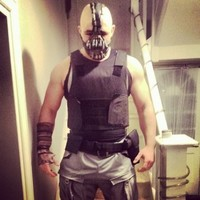 Snapshot: Cian Healy does a fine job dressing up as Bane