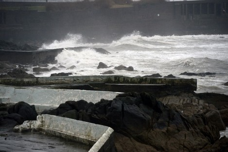 Stormy weather off Dun Laoghaire last March