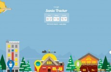 Santa leaves the North Pole in just over 2 hours according to Google Maps