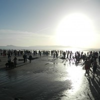 Pictures: Ireland celebrates Christmas (& clear skies) with icy dips, strolls on the strand