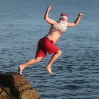 Snapshot: Christmas Day swimmers at the Forty Foot and Seapoint