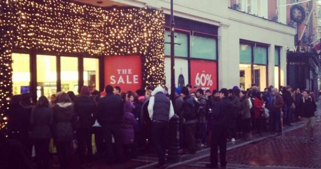 PICS: Queues for Brown Thomas go all the way around the corner in Dublin and Cork