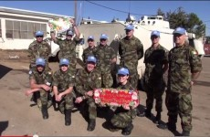 WATCH: How Irish troops abroad spent their Christmas Day