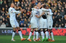 VIDEO: Rooney's superb volley the pick of four first half goals