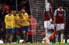 Walcott double earns Arsenal victory over Hammers