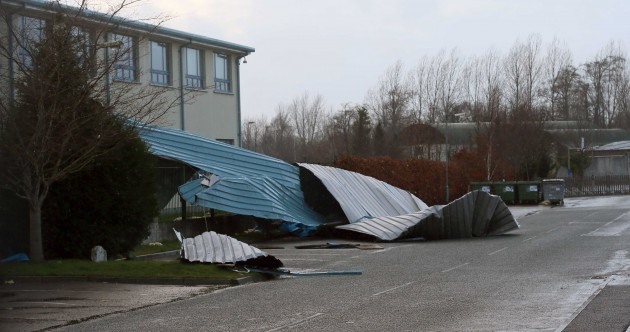 Roofs blown down, trees across the road and loose trampolines: Your 'storm watch' pics...