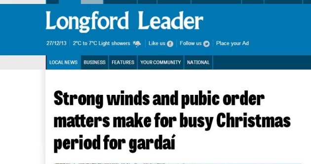 Things are getting hairy for Gardaí in Longford this Christmas