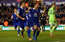 Keane scouts five Irishmen as Baines saves Everton at the death