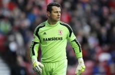Middlesbrough extend Shay Given's loan spell