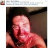 Snapshot: Fan covers himself in jam after Nicklas Bendtner's goal